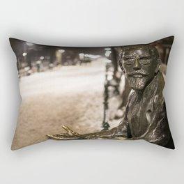 Annoyed Statue Rectangular Pillow