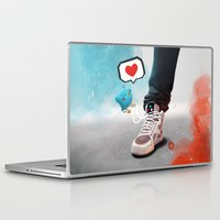sneaker Laptop & iPad Skins featuring sneaker Love by Dominik Gottherr