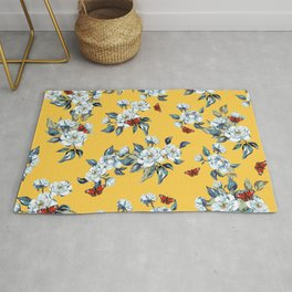 Butterfly blossoms Rug