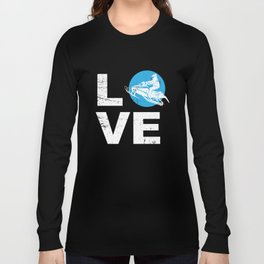 Love Snowmobile Funny Winter Sports Sled Gift Idea Long Sleeve T-shirt