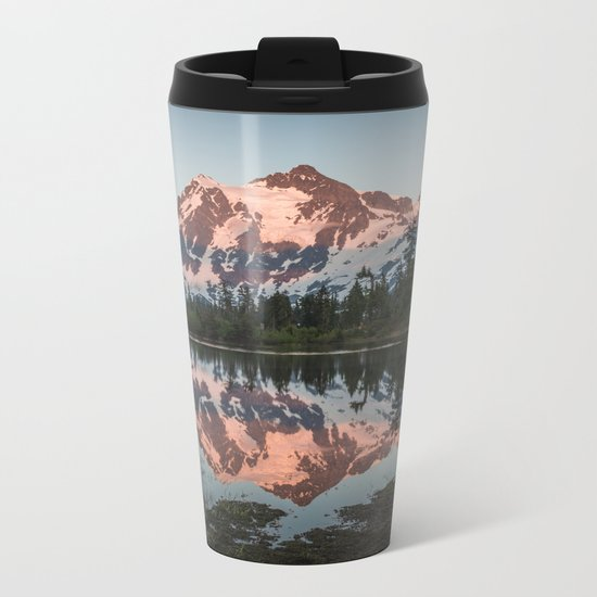 Cascade Sunset - Mt. Shuksan Metal Travel Mug
