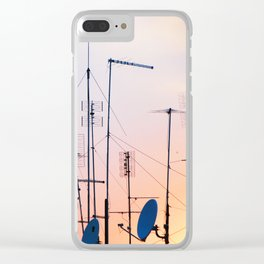188. Antennas Sunset, Rome Clear iPhone Case