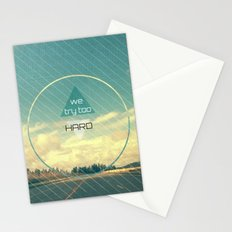 Try Too Hard Stationery Cards
