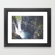 Vancouver Island Waterfall Framed Art Print