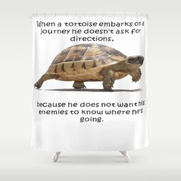 When A Tortoise Embarks On A Journey African Proverb Shower Curtain
