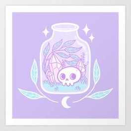 Pastel Terrarium Art Print