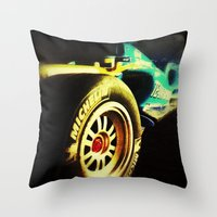 formula 1 Throw Pillows featuring Formula 1 by frenchtoy