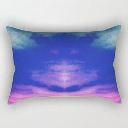 Reflective Tie Dye in the Sky Rectangular Pillow