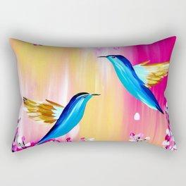 Pink Cherry Blossom Rectangular Pillow