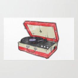 Vintage Record Player Rug