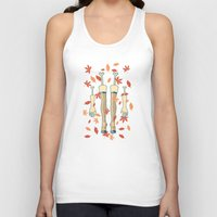 fall Tank Tops featuring fall by freshinkstain