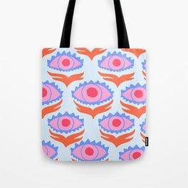 Pink Evil Eye Tote Bag