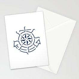 Nautical minimal lineart symbols combination Stationery Cards