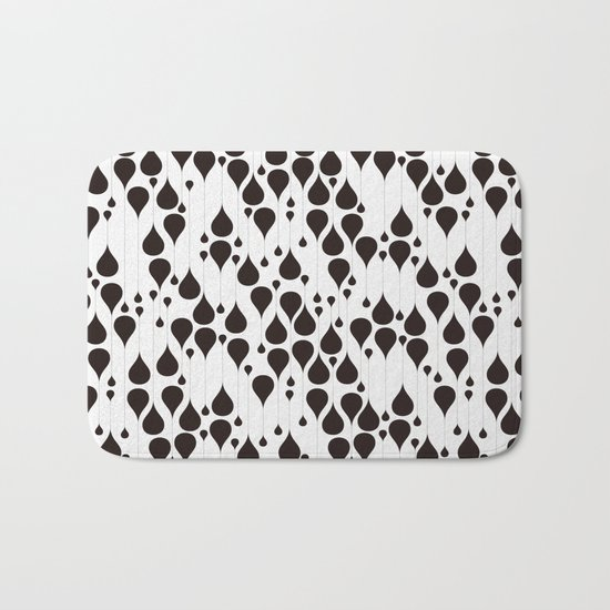 Monochrome waterdrops pattern. Bath Mat