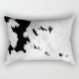 Cowhide Minimalistic Fur Texture Detail Rectangular Pillow