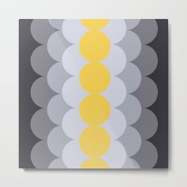 Gradual Primrose Yellow Metal Print
