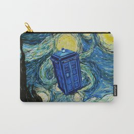 Tardis Dr. Who Starry Night Carry-All Pouch