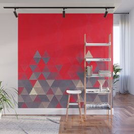Geo Pattern Fire Engine Wall Mural