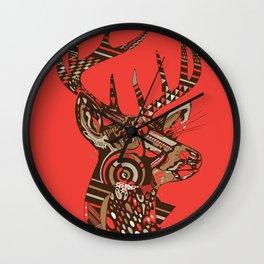 ROAD KILL ~ RED Wall Clock