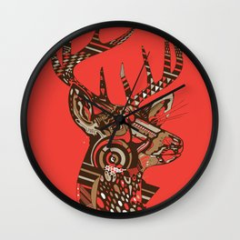 ROAD KILL ~ RED Wall Clock