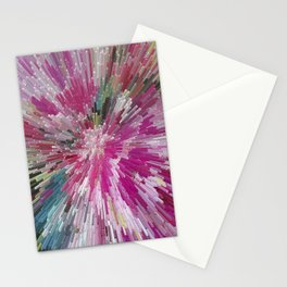 Abstract flower pattern 3 Stationery Cards