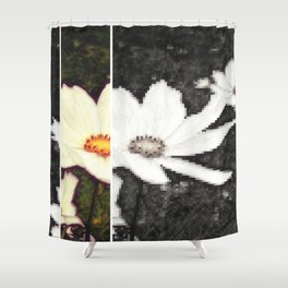 Pixelflower Shower Curtain