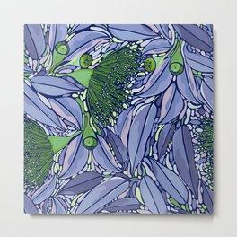 Summer Wildflower Pattern Metal Print