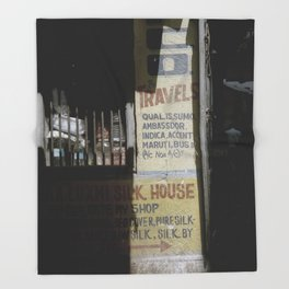 Sign of Varanasi Throw Blanket