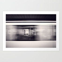 metro long exposure Art Print