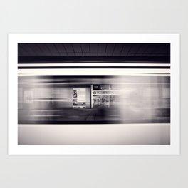metro long exposure Art Print