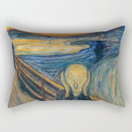 "Edvard Munch ""The Scream"" (1893)(oil) Rectangular Pillow"