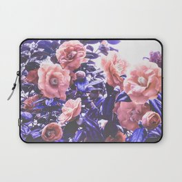 Wild Roses - Ultra Violet and Coral #decor #floral #buyart Laptop Sleeve