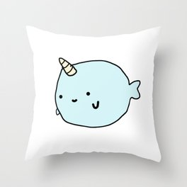 Fun and Cute Narwhal Throw Pillow
