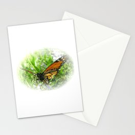 Butterfly in rays of sunshine Stationery Cards