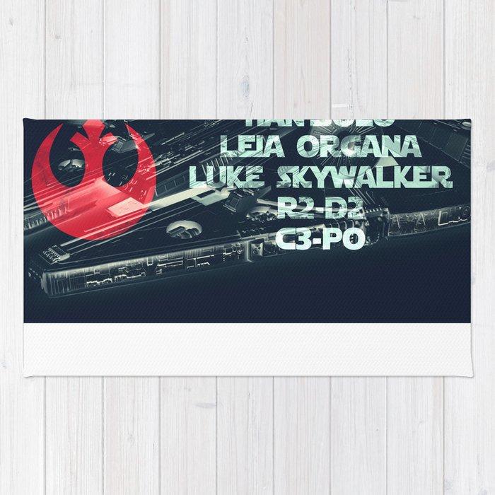 Star War * Rebels Names * Han Solo * Princess Leia * Luke Skywalker * R2-D2 * C3-Po * Jedi Rug