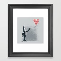 Binary Art Framed Art Print