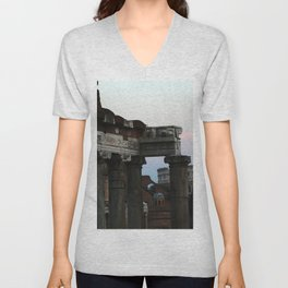 Roman Forum and Colosseum of Rome at Sunset Unisex V-Neck