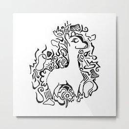 Wooly Lineart Metal Print