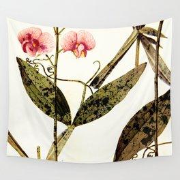 modern sweet peas Wall Tapestry