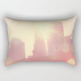 downtown Los Angeles skyline photograph. City of Lights Rectangular Pillow