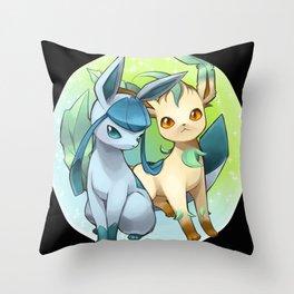 Leafeon & Glaceon Throw Pillow