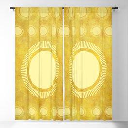 """Gold & Yellow Ethnic Sun Mandala"" Blackout Curtain"