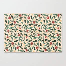Holly Pattern Canvas Print