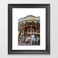 Paris Carousel Horses - Paris Merry Go Round Print - Paris Carousel Horses Home Decor Framed Art Print