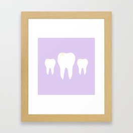 Les Dents Framed Art Print