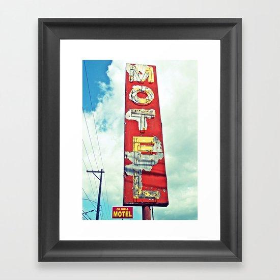 South Tacoma motel sign Framed Art Print