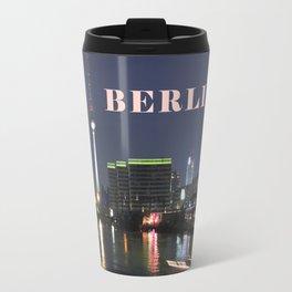 Night at river Spree - BERLIN Travel Mug