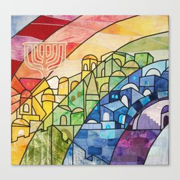 Jerusalem Rainbow Canvas Print