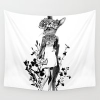 moose Wall Tapestries featuring MOOSE by TOO MANY GRAPHIX