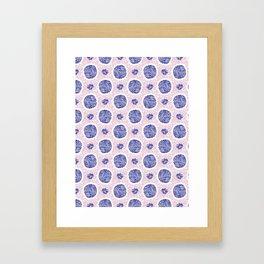 Abstract Geometric Polka Dot Pattern, Seamless Vector Background Framed Art Print